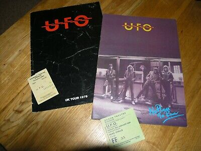 Ufo Programme 1979 And 1980 Tour Book Plus Tickets • 17.95£