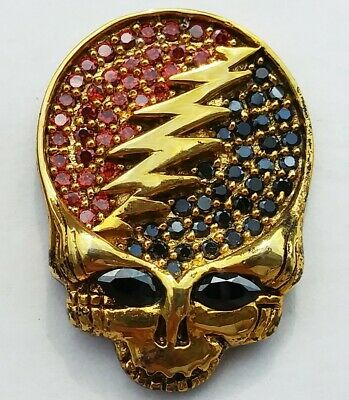 Grateful Dead PIN SYF 3D Crystal Jewelry Brooch Vintage Furthur And Company • 23.60£