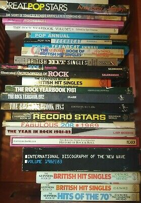 LARGE COLLECTION  OF ROCK  & POP  BOOKS. 23 Books • 4.99£