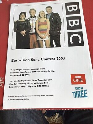 Official BBC Press Pack Information 2003 Eurovision Song Contest Terry Wogan • 9.99£