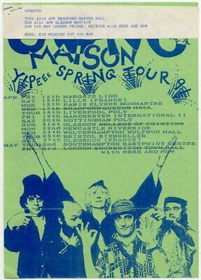 Gong Yippee Spring Tour 1991 Flyer • 30£
