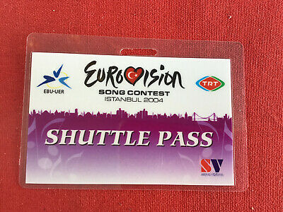 Press Pass Istanbul Shuttle 2004 Eurovision Song Contest • 3.75£