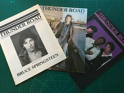 3 Issues Of Springsteen Fanzine Thunder Road 1980/81 • 15£