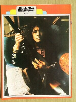 MARC BOLAN ~ T REX ~ Single Page From Music Star 1973 • 6.95£