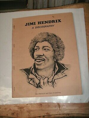 Jimi Hendrix  A Discography  Super Rare 49 Pages, Ken Matesich & D. Armstrong,82 • 37.49£