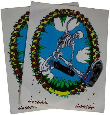 LOT Of 2 VTG 90s GRATEFUL DEAD Decal STICKERS Skateboarding Deadhead Hippie 1994 • 22.22£
