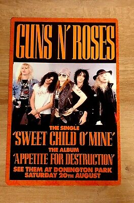 Guns N Roses Monsters Of Rock Castle Donington 1988 8x12 Inch Metal Sign • 9.99£