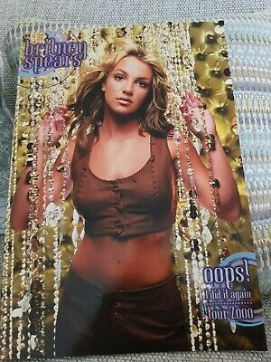 MINT Condition Oops I Did It Again Tour Programme - Britney Spears  • 50£