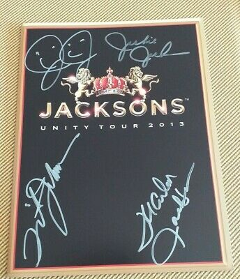 Jacksons - Signed X4 - Programme - Jermaine Marlon Tito Jackie - Not Michael • 44.99£
