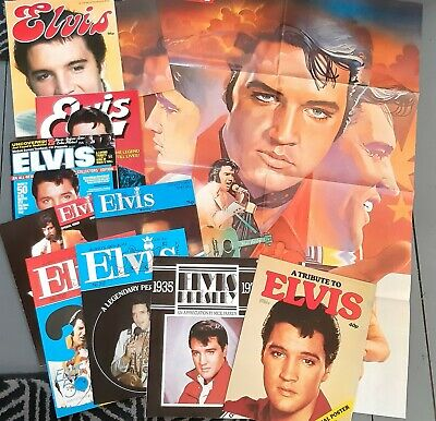 Elvis Presley Poster And Magazines Bundle.  • 5.50£