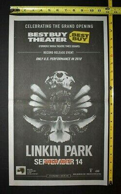 Linkin Park 2010 Concert Ad Best Buy Theatre NYC A Thousand Suns Record Release • 7.81£