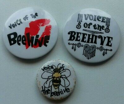 3 Voice Of The Beehive Badges • 3£