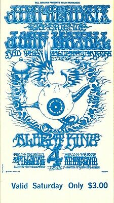 4pcs JIMI HENDRIX EXPERENCE 1968 FILLMORE WEST ORIGINAL VINTAGE CONCERT TICKETS • 315.20£