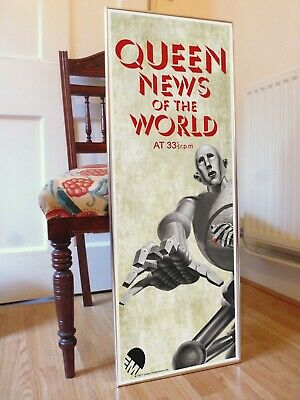 Queen News Of The World Promo Poster, Freddie Mercury We Are The Champions  • 29.99£