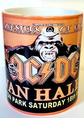 Ac/dc Van Halen Ozzy Monsters Of Rock Castle Donington 1984 Mug • 9.99£