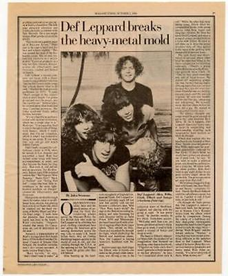 Def Leppard Interview/article 1980 RS-TYUI • 11.77£