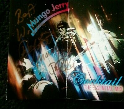 Mungo Jerry Autograph Ray Dorset. Crease In Middle Of Flyer • 5£