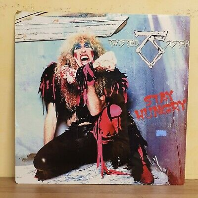 Twisted Sister - Stay Hungry 12x12 Inch Metal Sign • 14.99£