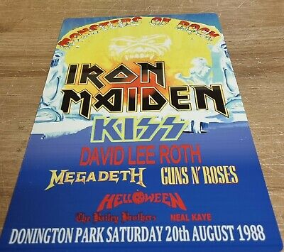 Iron Maiden Monsters Of Rock Castle Donington 1988 8x12 Inch Metal Sign • 9.99£