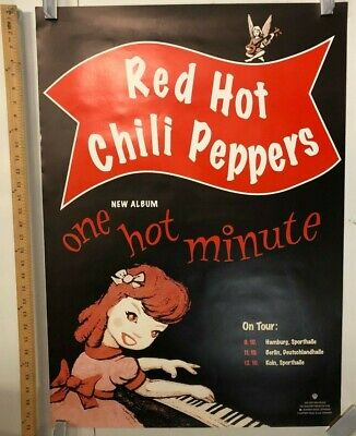 Red Hot Chili Peppers One Hot Minute Tour Poster Germany Classic Funk Rock • 212.80£
