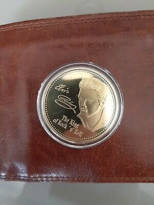 Elvis Presley Gold Coin In Case New • 4.99£