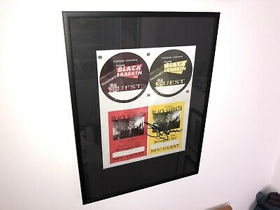 Black Sabbath, Tony Iommi Hand Signed 1999-2000 Tour Pass Proof Sheet Framed • 1,000£