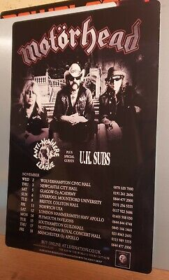 Motorhead- The World Is Yours Tour 2011  8x12  Metal Sign • 9.99£