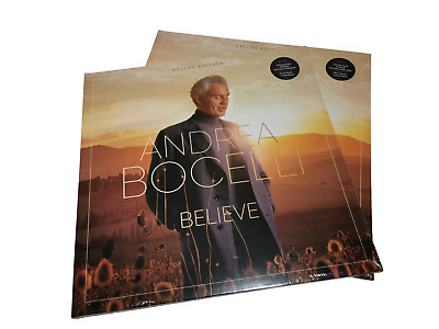 BOCELLI Andrea  Believe Double LP Vinyl Deluxe Edition Gatefold New Sealed • 38.99£