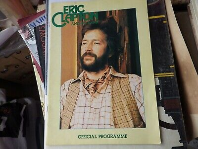 Eric Clapton And His Band Official Programme With Ronnie Lanes Slim Chance • 14.99£
