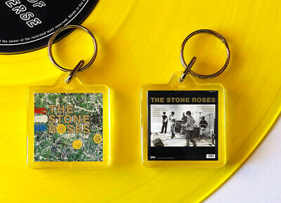 THE STONE ROSES Album Art Mini Keyring. 3.2 X 3.2cm Plus Singles Fools Gold • 2£