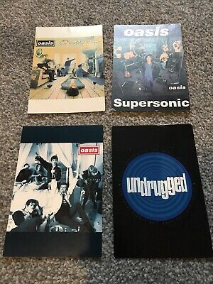 Oasis Promo Postcards Rare Mailers X 4 Definitely Maybe Undrugged • 9.99£