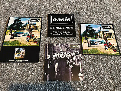 Oasis Promo Postcards Rare Mailers X 4 Be Here Now • 9.99£