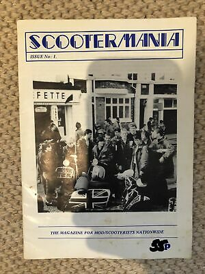 First Issue Of Scootermania Magazine / 8x Northern Mod Scene Magazines • 20£