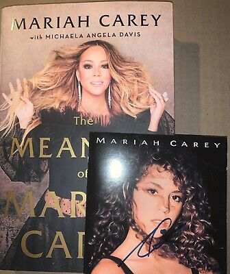 Mariah Carey The Meaning Of Hardcover Book & Signed Self-titled Cd Bundle Rare • 37.52£