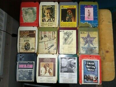 8 Track Tapes Lot Of 12 - Used And Untested. • 12£