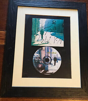 Framed And  Signed Compact Disc The Verve Lucky Man 1997 With Certificate • 11£