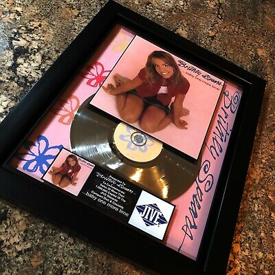 Britney Spears Baby One More Time Million Record Sales Music Award LP Vinyl • 143.05£