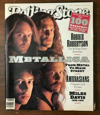 1990's Rolling Stone Magazine Metallica The 100 Greatest Album Covers Metal • 14.97£
