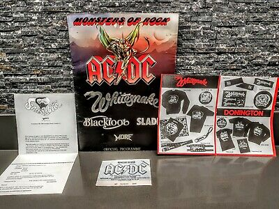 AC/DC Donington Monsters Of Rock 1981 Tourbook Programme MERCH FORMS TICKET ACDC • 24.99£