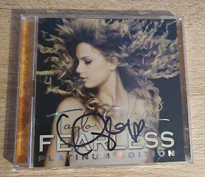 RARE Taylor Swift HAND SIGNED Fearless Platinum Edition CD/DVD 2009 • 60£