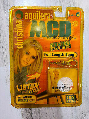 Christina Aguilera MCD Musical Keychain RARE 1999 YABOOM GENIE IN A BOTTLE • 21.45£