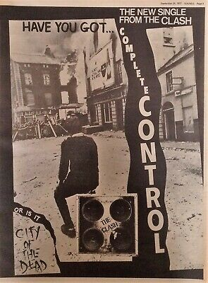 The Clash - Complete Control Single Original Full-page Advert Sounds 24/9/77 • 12£