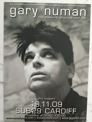 GARY NUMAN / SAW DOCTORS Double Sided Postcard Sized Tour Advert CARDIFF • 1.49£