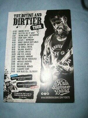 Kris Barras Band...flyer For Nationwide Tour • 0.75£