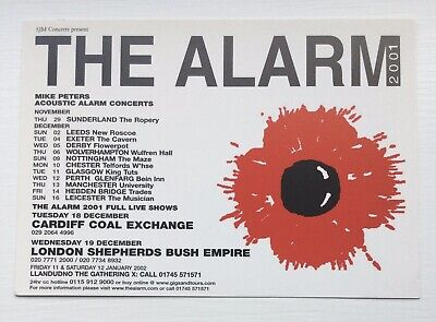 THE ALARM 2001 Tour Postcard MIKE PETERS • 1.49£