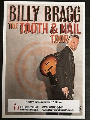 BILLY BRAGG Tooth And Nail Tour Flyer - Cardiff • 1.99£