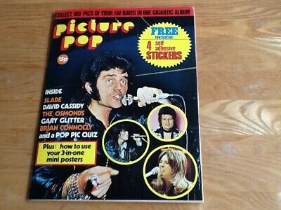 Panini Picture Pop Sticker Album 1974 - Complete With All 100 Stickers • 19.99£