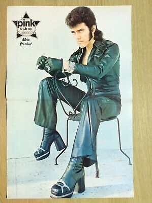ALVIN STARDUST ~ Centre Page Poster From Pink & Tina Magazine 1973/1974 • 10.95£