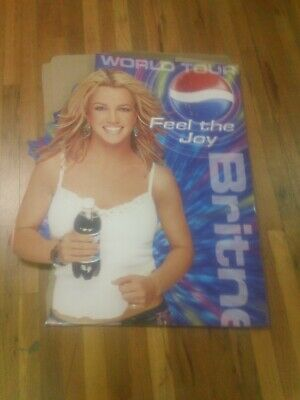 New Vintage Britney Spears World Tour Pepsi Advertising Life Size Standee • 85.83£
