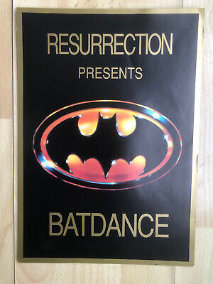 Resurection Presents Batdance Rave Flyer • 9£